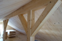 Attic post and beam detail